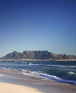 Postcard view of Table Mountain